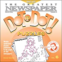 """The Greatest Newspaper Dot-to-Dot Puzzles (Vol. 6) - Easter Basket - Mini Travel Size (5.5"""" x 5.5"""")"""