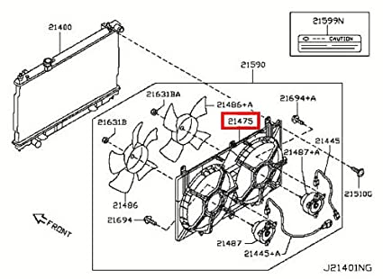 Amazon Com Infiniti Genuine Engine Cooling Radiator Shroud Assy