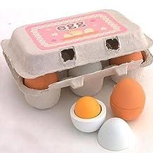 High Quality Preschool Educational Kid Non-Toxic Pretend Play Toy Wooden Eggs Yolk Kitchen Food Children Games Xmas-