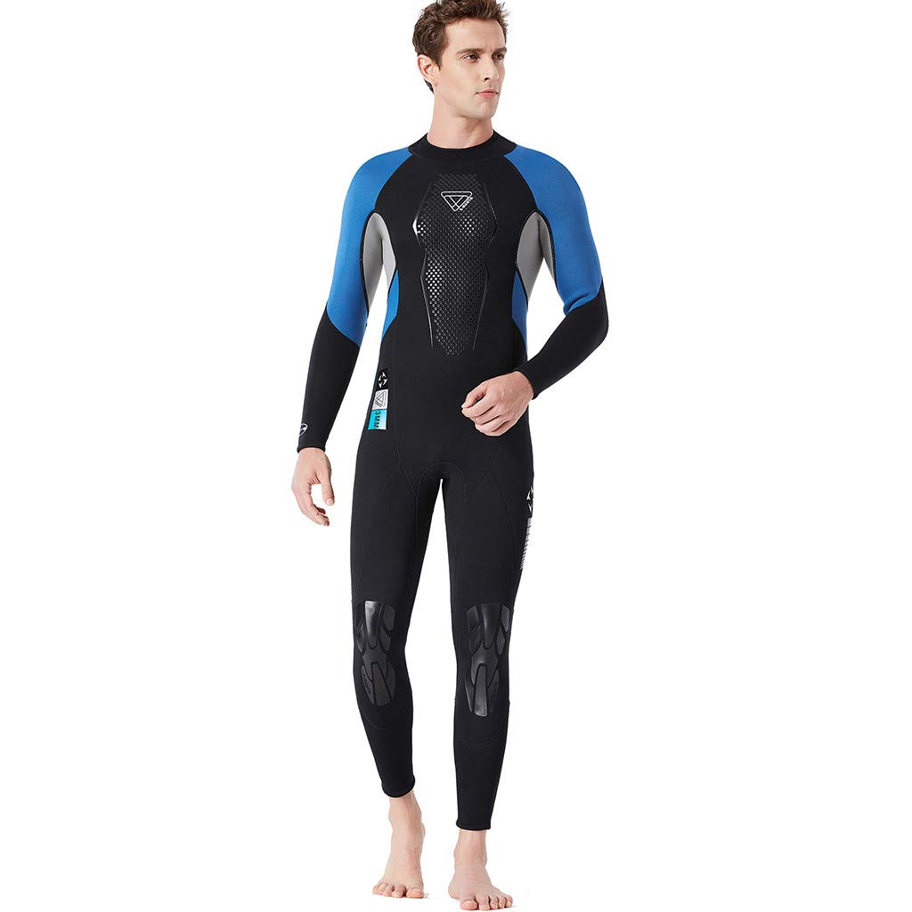 Yliquor Men's Keep Warm Sunscreen Swimming,Surfing and Snorkeling Diving Coverall SuitTraining Fashion Quick Dry Comfy Breathable Elastic Classic by Yliquor (Image #3)