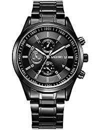 Men's Watches with Black Face Wrist Watches for Men