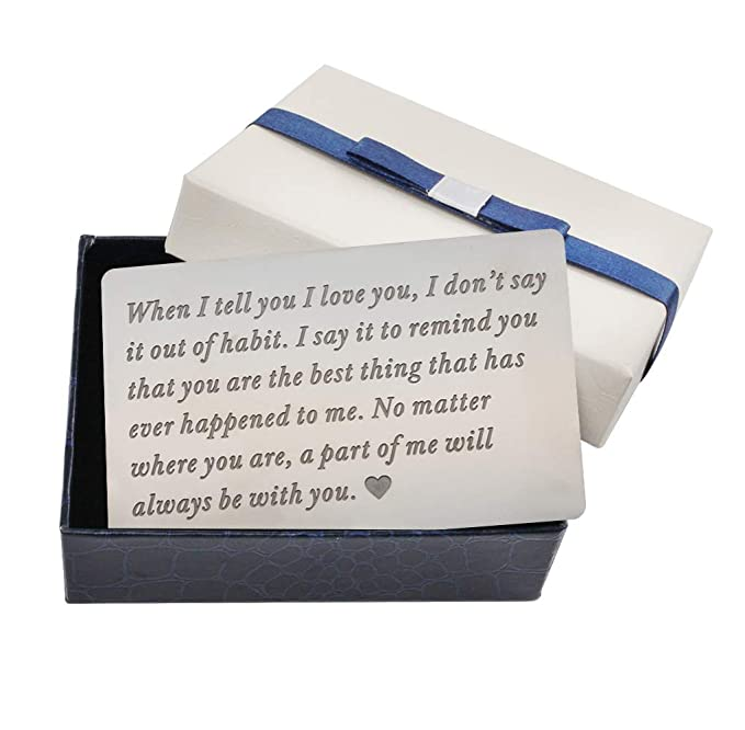 Wallet Card For Husband Anniversary Gifts Men Deployment Insert Him A Gift Ideas
