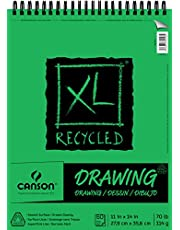 Canson XL Series Recycled Drawing Paper Pad, Top Wire Bound, 70 Pound, 11 x 14 Inch, 60 Sheets