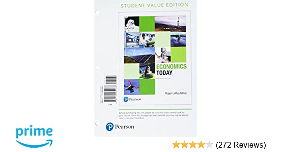 Economics Today Student Value Edition 19th Edition