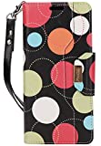 ProCase Galaxy Note 8 Wallet Case, Flip Kickstand Case with Card Slots Mirror Wristlet, Folding Stand Protective Cover for Samsung Galaxy Note 8 2017 -Circles