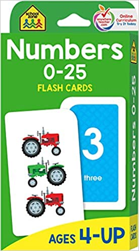photo about Number Flash Cards Printable 1 100 known as Higher education Zone - Quantities 0-25 Flash Playing cards - Ages 4 toward 6