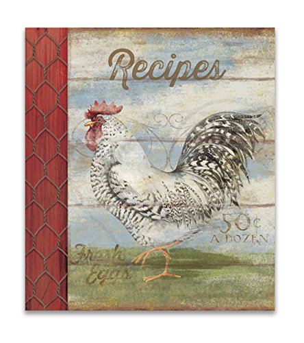Rooster Cookbook (Recipe Binder Set with Plastic Page Protectors and Recipe Cards, Barnyard)