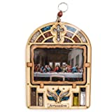 Anandashop-UK- The Last Supper Painting Wood Plaque Ornament Frame Wall Hanging Religious Gift