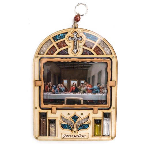 Anandashop-UK- The Last Supper Painting Wood Plaque Ornament Frame Wall Hanging Religious Gift by Anandashop-UK-