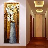 TTKX@ Dipinto A Mano Astratto Fiore Bianco Pittura A Olio Coltello Fatto A Mano Su Tela Dipinti Floreali Home Decor Wall Art Grande Immagine Del Corridoio