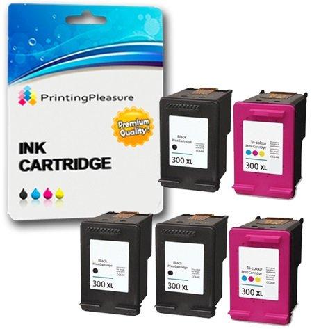 112 opinioni per 5 XL Compatibili HP 300XL Cartucce d'inchiostro Sostituzione per Deskjet D1600