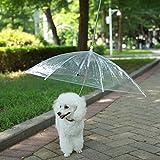 """LESYPET Pet Umbrella Dog Umbrella With Leash, Fits 20"""" Pet's Back Length"""