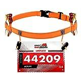 Maacool Race Number Belt (6 Gel Loops) for Triathlon,marathon,Running,Cycling