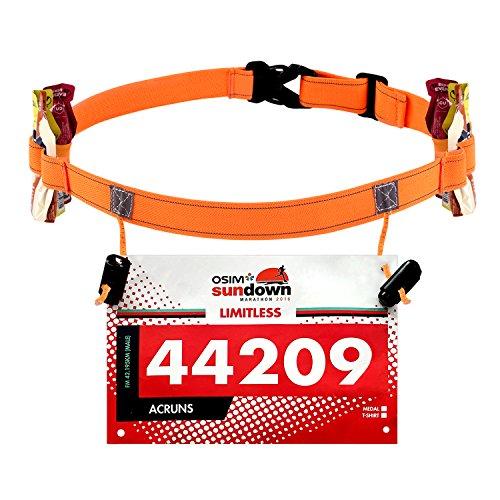Maacool Race Number Belt ( 6 Gel Loops ) for Triathlon,marathon,Running,Cycling (Bib Triathlon)
