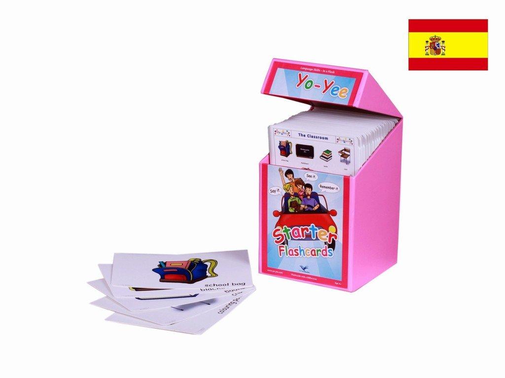 Carte illlustrate educativi - Flashcard lingua spagnolo - Spanish Starter Flash Cards Kit