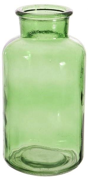 Amazonde Grün Glas Blume Vase Breit Hals Vase Deko Vase
