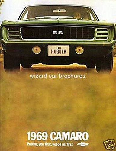 BEAUTIFUL 1969 CAMARO DEALERSHIP SALES BROCHURE - ADVERTISMENT Includes Rally Sport RS, Super Sport SS Z28 and Convertible CHEVY 69 Chevrolet Camaro Sales Brochure
