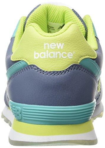 New Balance 574, Zapatillas Altas Para Niñas Multicolor (Yellow/Aqua 737)