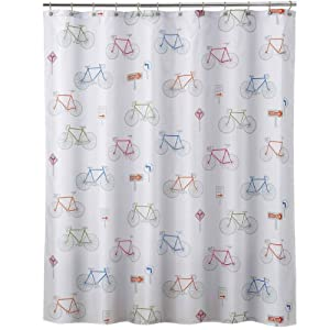 Charming Allure Home Creations Bike Ride Shower Curtain