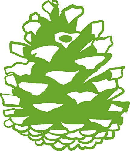 hBARSCI Pinecone Vinyl Decal - 5 Inches - for Cars, Trucks, Windows, Laptops, Tablets, Outdoor-Grade 2.5mil Thick Vinyl - Lime