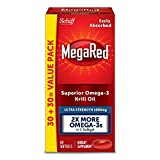 MegaRed 1000mg Ultra Strength Omega-3 Krill Oil – No fishy aftertaste as with Fish Oil, 60 softgels Review