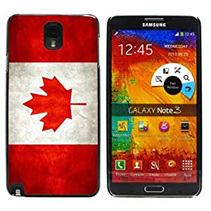 Graphic4You Vintage Canadian Flag of Canada Design Hard Case Cover for Samsung Galaxy Note 3