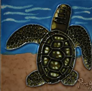 Continental Art Center M-113 3 by 3-Inch Sea Turtle 3 Ceramic Magnet