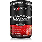 Six Star Pro Nutrition Elite Series Nitric Oxide Fury 1.2lb (544g) – Fruit Punch – Pre-Workout Powder (Packaging may vary)