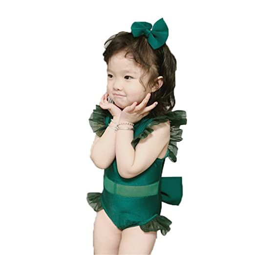 Bañador infantil de una pieza. Niñas niños Lindo verde de ...
