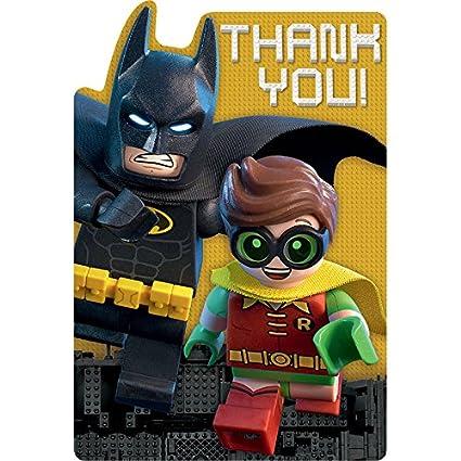 Amazon.com: American Greetings Boy's Lego Batman Thank You Cards (8 ...