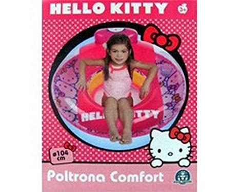 MATTEL 08238 COMFORT SILLA INFLABLE HELLO KITTY 104 X 104: Amazon ...