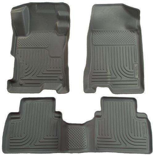 Husky Liner 98532 WeatherBeater Floor Liner GRAY 09-11 Vibe Corolla Matrix (Gray Weatherbeater Floorliner)