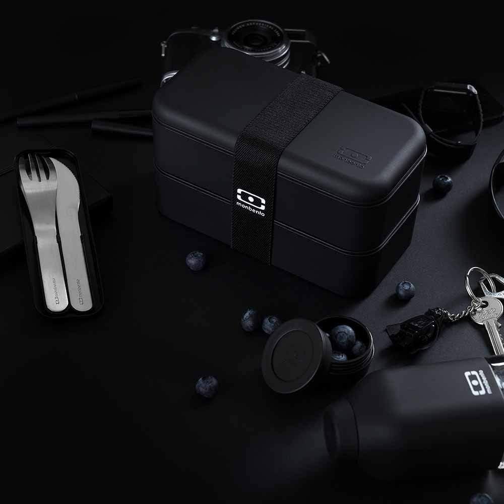 MB Original Schwarz the Bento Box mit MB Pocket Besteckset Made in France 120011102 100701002