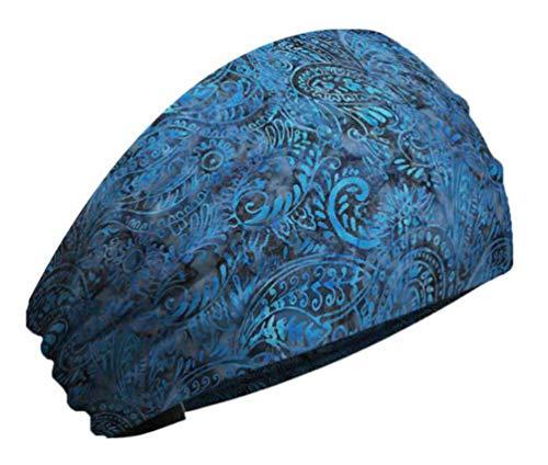 (That's A Wrap Women's Batik Bandana Paisley Print Knotty Band - Blue KB1218)