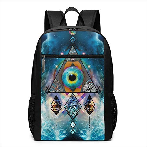 Blue Neon Skull Headset Funny Fashion Outdoor Shoulders Bag Durable Casual Travel Laptop Camping School Backpack Book Bags For Adult Women