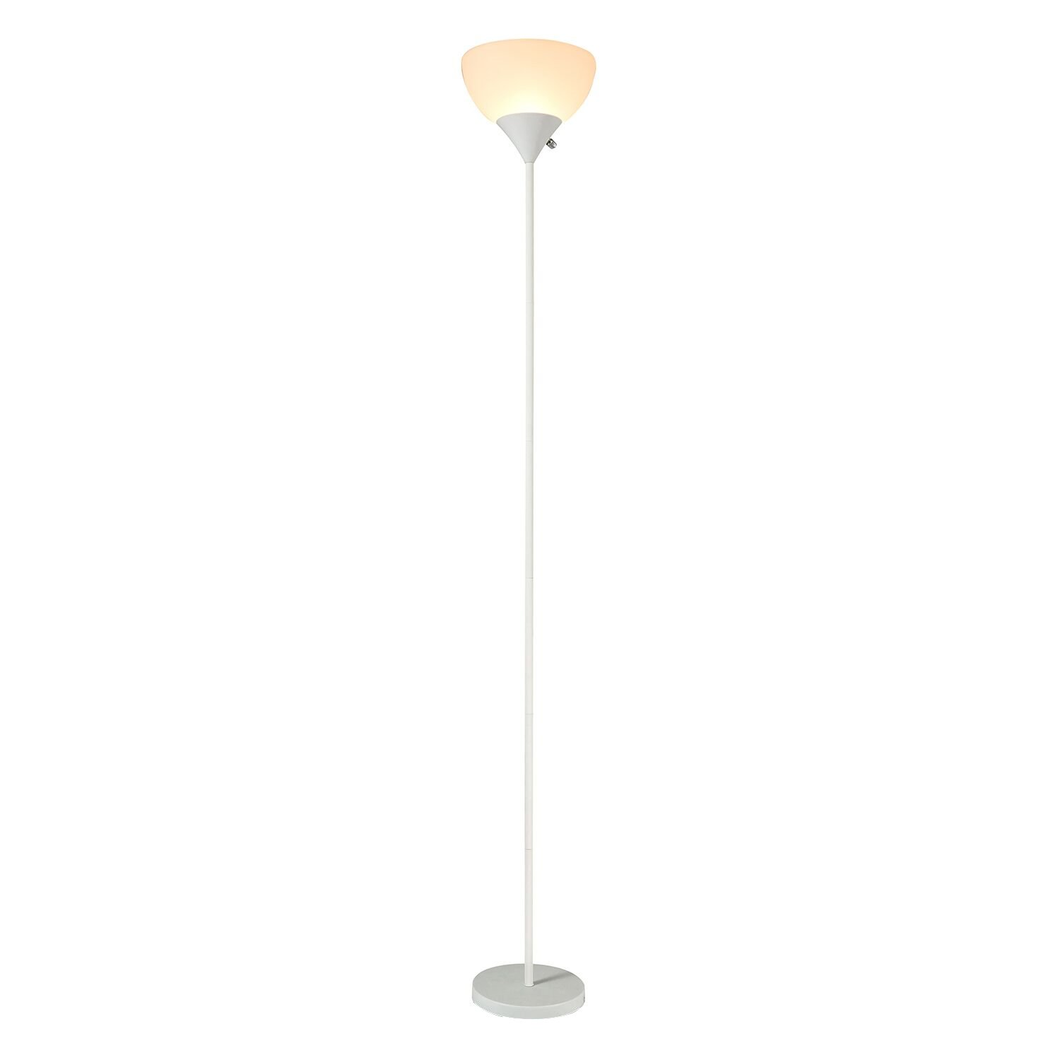 SUNLLIPE LED Torchiere Floor Lamp - 70 inches Sturdy Standing 9W Integrated LED Energy Saving Uplight for Living Room, Dorm, Bedroom, and Office - White