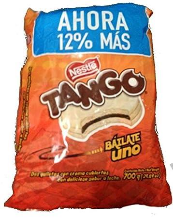 White Tango Chocolate Regular Size 25 Pack, One Bag of 25 Cookies, tango,