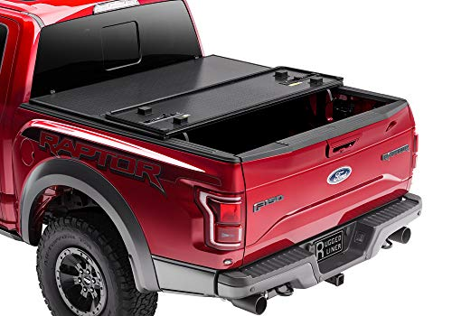 "Rugged Liner Premium Hard Folding Truck Bed Tonneau Cover | HC-F5515 | fits 15-18 Ford F-150 5.5ft., 5'5"" bed"