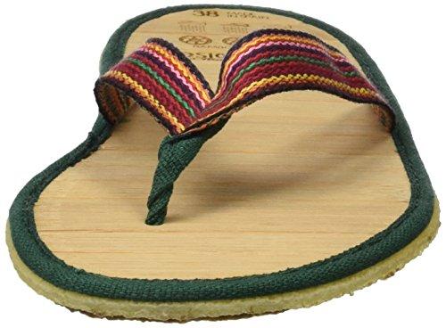 VESICA PISCIS CLARA LONA - Sandalia flip-flop 100% vegana y reciclable fabricada con algodón reciclado, planta de bambú y suela de caucho natural. Certificación PETA approved. Varios colores (Hasiti)