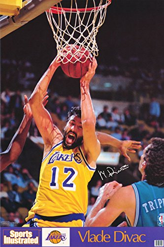 Poster - Vlade Divac La Lakers NBA Authentic 1990 Sports Illustrated Nba-42