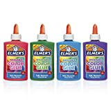 Elmer's Washable Color Glue, Great for Making Slime, Assorted Colors, 5 Ounces Each, 4 Count