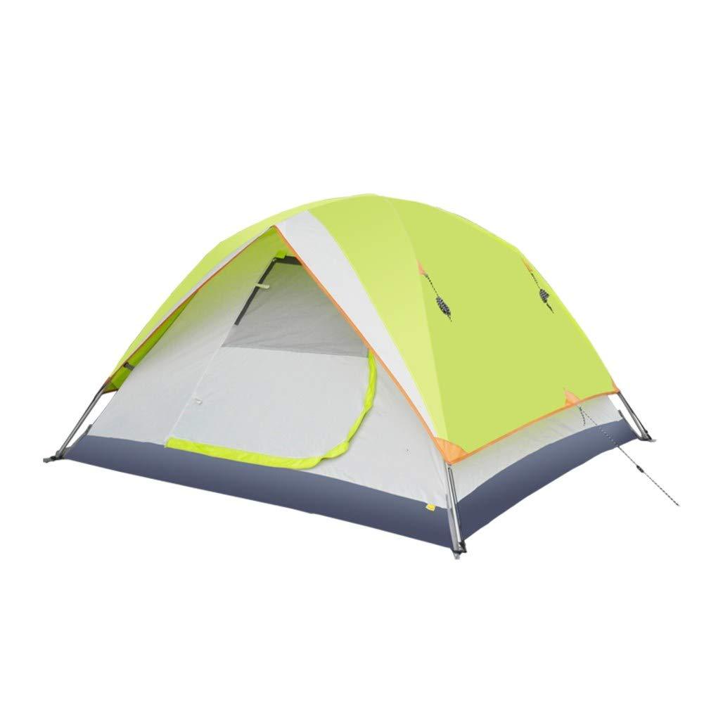 HUIYUE 3-4 Personen Outdoor Camping Zelt,Automatische Geschwindigkeit öffnen Zelte,Familie Strandzelt,Double-Layer Portable Regendichte Wasserdicht Zelt-A 210x210x125cm(83x83x49inch)