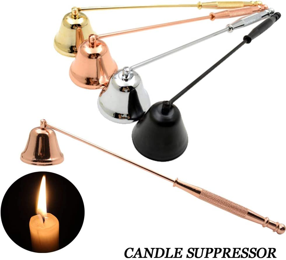 Rose Gold Ugood Stainless Steel Smokeless Candle Wick Bell Snuffer Home Hand Put Off Tool Kit