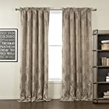 """42""""W x 63""""L (Set of 1 panel) Lining And Blackout 20 sizes Available Custom Modern Jacquar Floral Tradditinaol Grommet Top Window Treatment Draperies & Curtains Panels"""