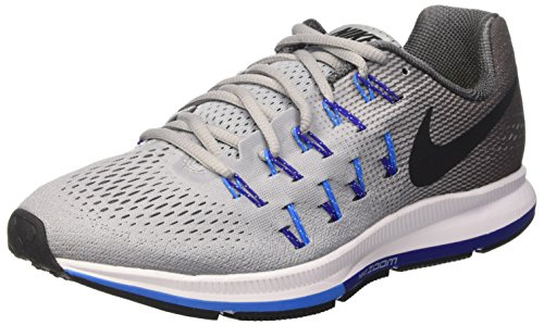 Nike Air Zoom Pegasus 33 (W), Zapatillas de Running para Hombre Gris (Wolf Grey / Black-Dark Grey)