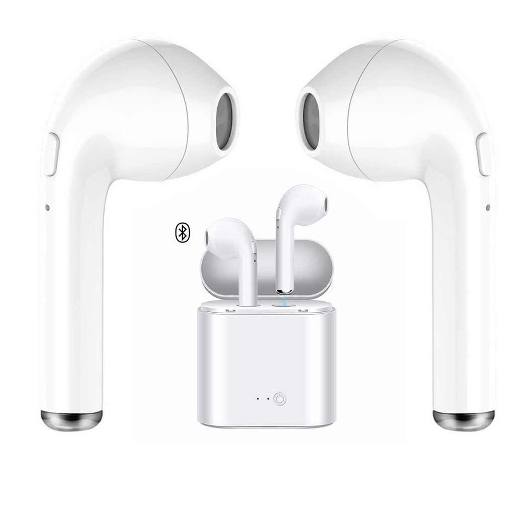 Wireless Headset, Bluetooth Headset Earphones Sport Headphones, with Charging Box for iPhone X/8/7/6/6s and Most Android Smartphones