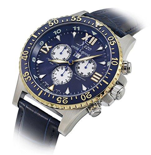 Xezo Men's D45-Bul Air Commando Swiss-Quartz Luxury Sports Chronograph ()
