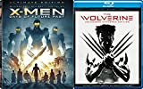 Marvel 3D Movie Pack The Wolverine Unleashed & Ultimate X-Men Days of Future Past Blu Ray Combo Super Hero power Digital HD Comics Bundle Set