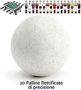 Fútbol Futbolín accesorios. Juego 10 bolas profesionales rettificate para juegos Veloce de precisión, de torneo. Diámetro mm.34, peso Gr. 23.: Amazon.es: Deportes y aire libre