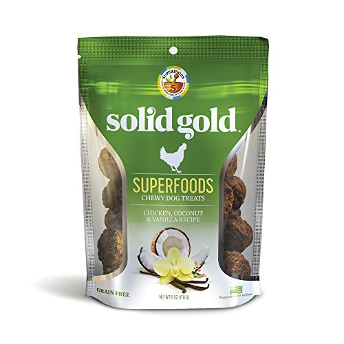 Solid Gold Superfoods Treats; Grain Free Chewy Dog Treats with Real Meat & Superfoods